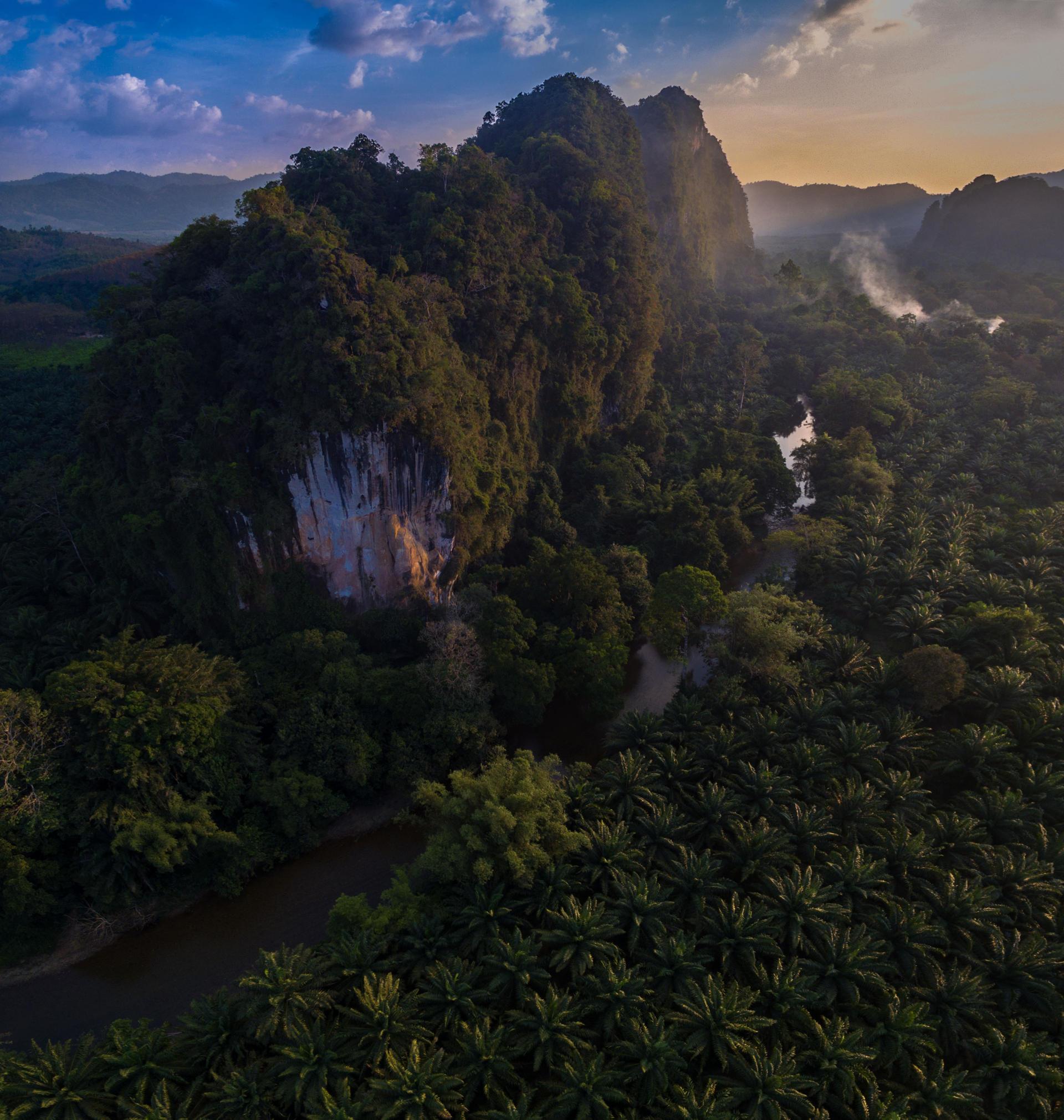 drone khao sok, aerial khao sok, khaosok drone national park