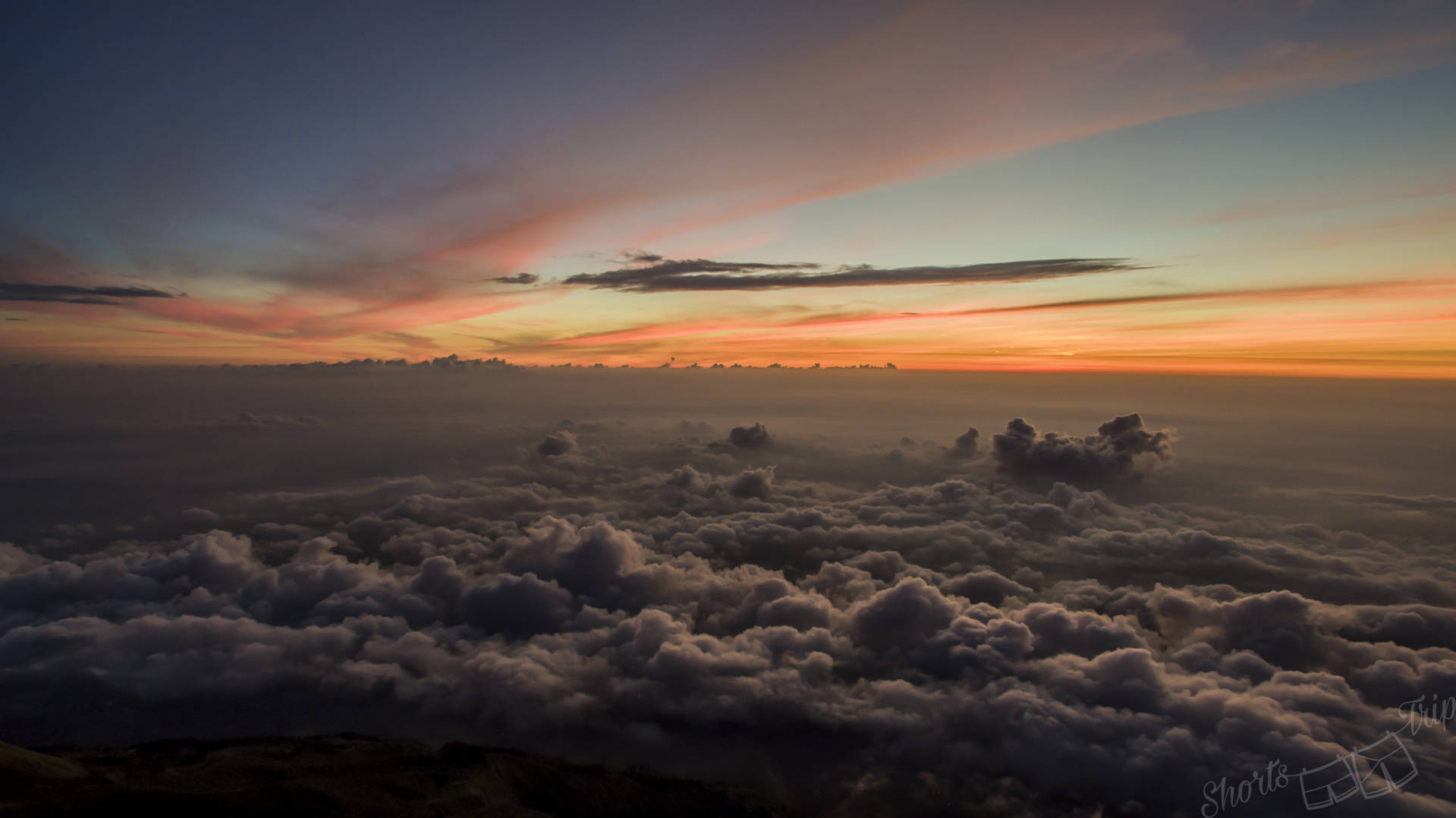clouds, clouds drone, clouds sunrise, clouds dawn drone, above clouds, above clouds drone, clouds merbabu