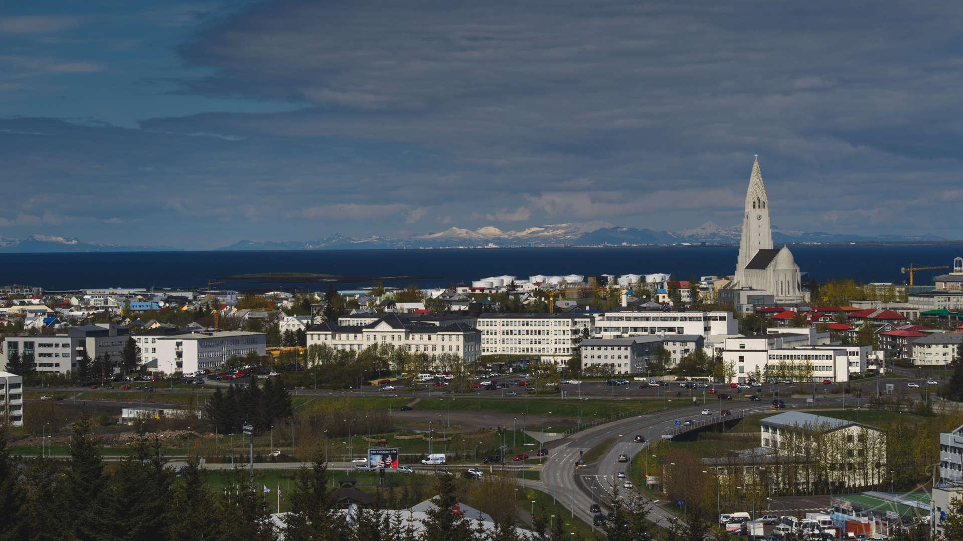 Рейкьявик, обсерватория Рейкьявика, панорама Рейкьявика