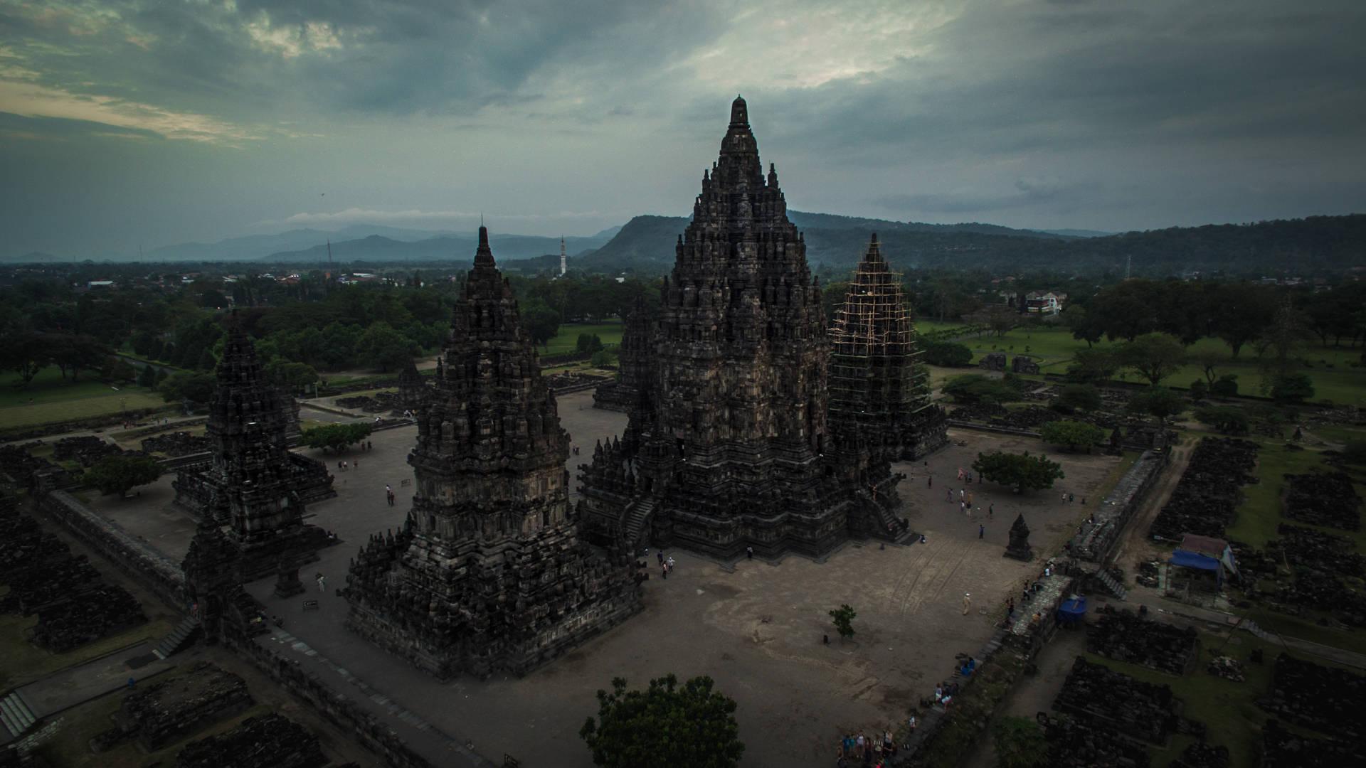 prambanan, indonesia, temple, temple indonesia, prambanan drone, prambanan aerial