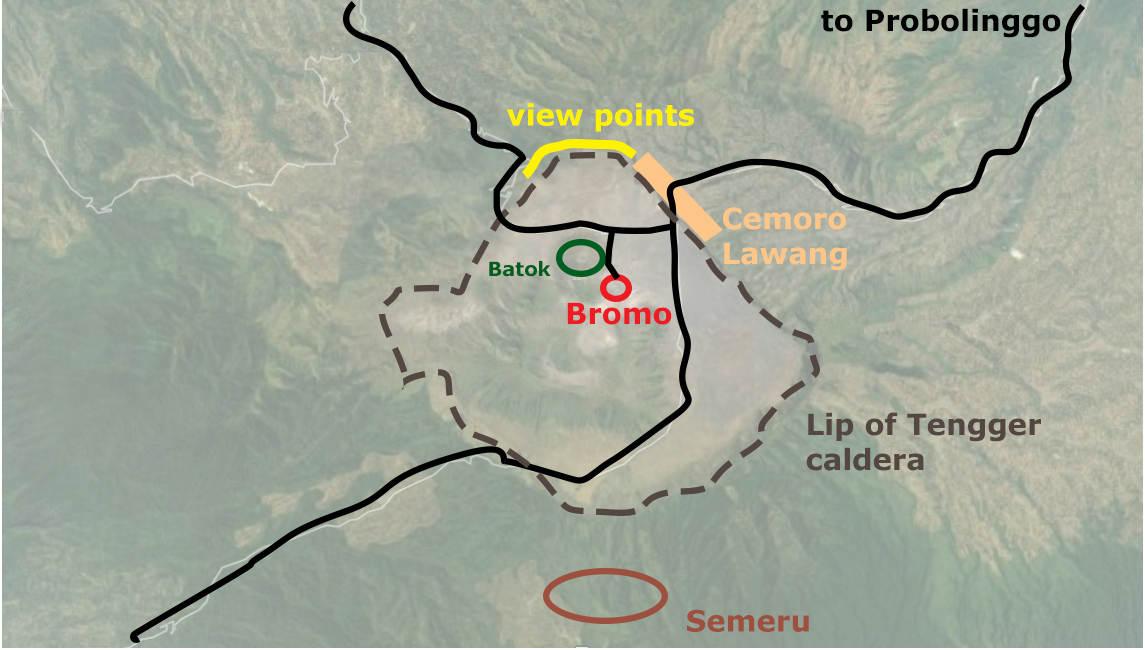 бромо, бромо инфографика, гид по бромо, как добраться добромо, карта бромо, индонезия