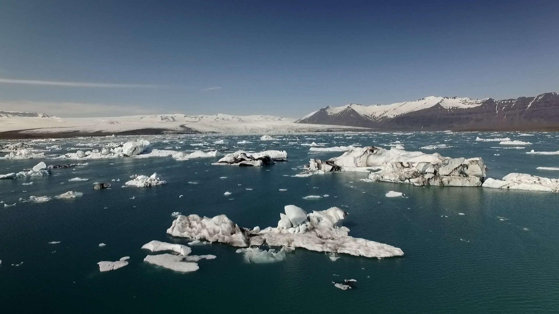 jokulsarlon, jokulsarlon icebergs, jokulsarlon drone, jokursalon