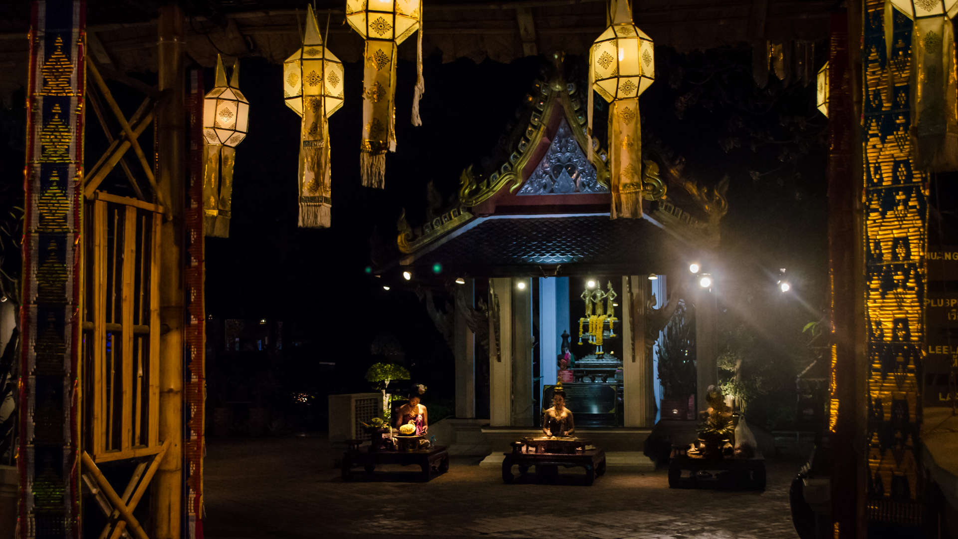 thailand, thailand temple, thailand buddhism, buddhist temple thailand, chiangmai, chiang mai, chiang mai thailand, night temple thailand, night thailand, night meditation, meditation thai temple