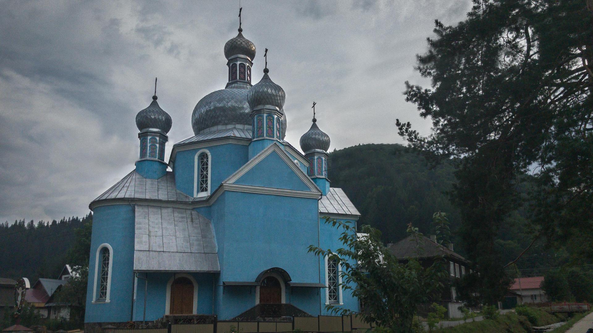 carpathians church, orthodox church, ust-corna church, ust-corna