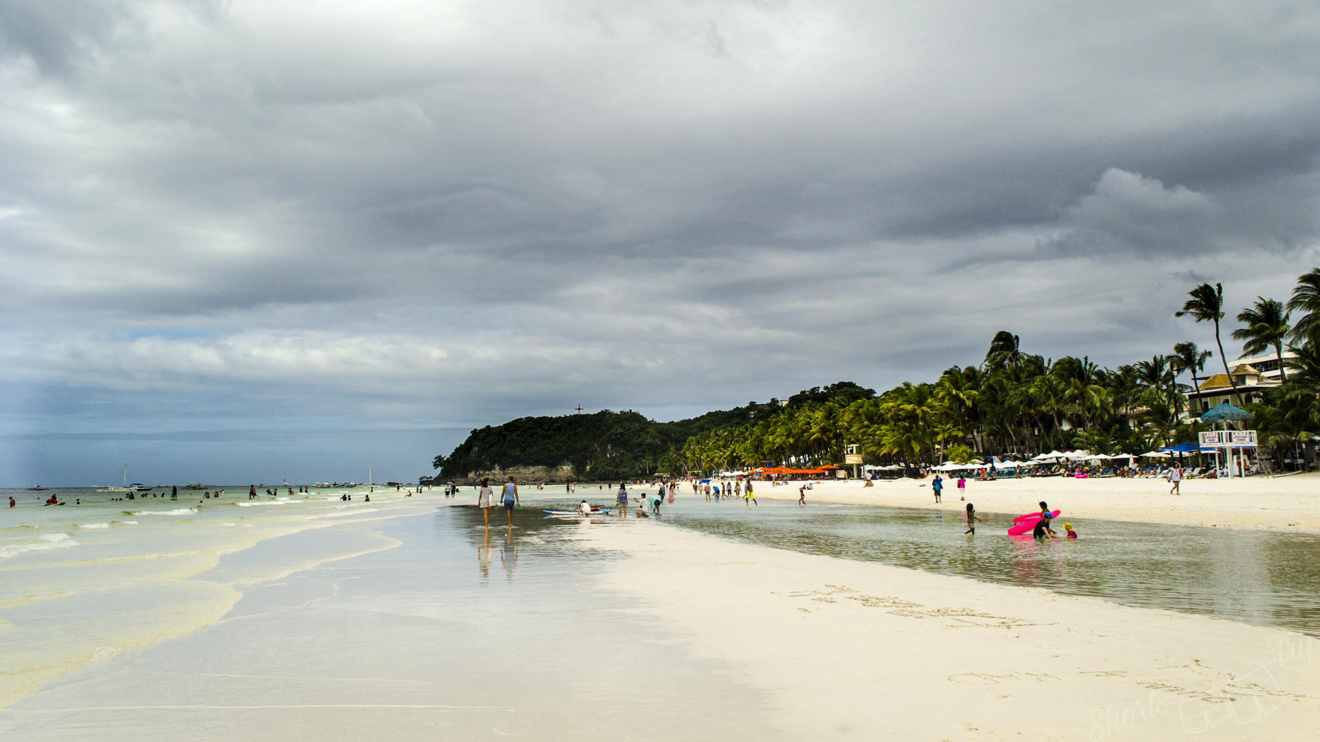 белый пляж, боракай белый пляж, станция 1