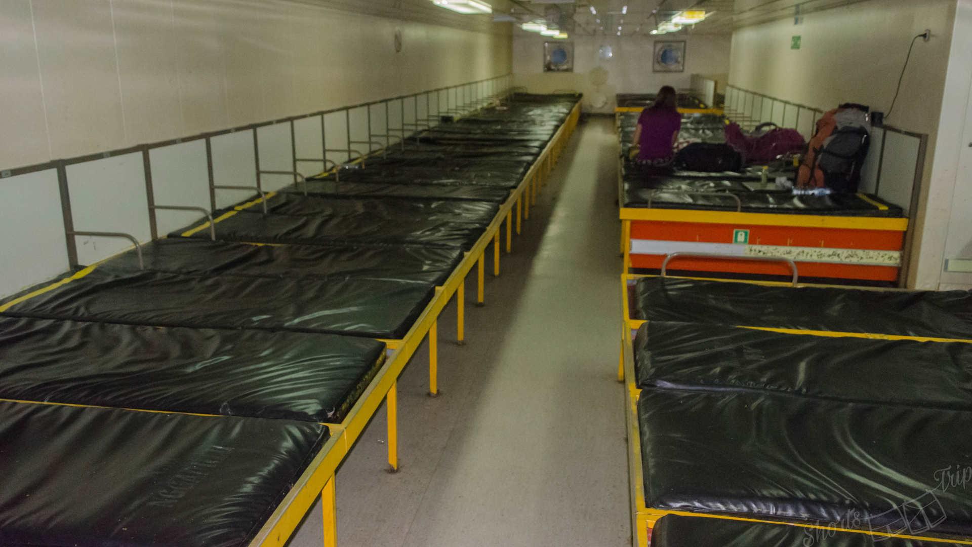 pelni mattresses, pelni experience, traveling by pelni, pelni ship, pelni inside