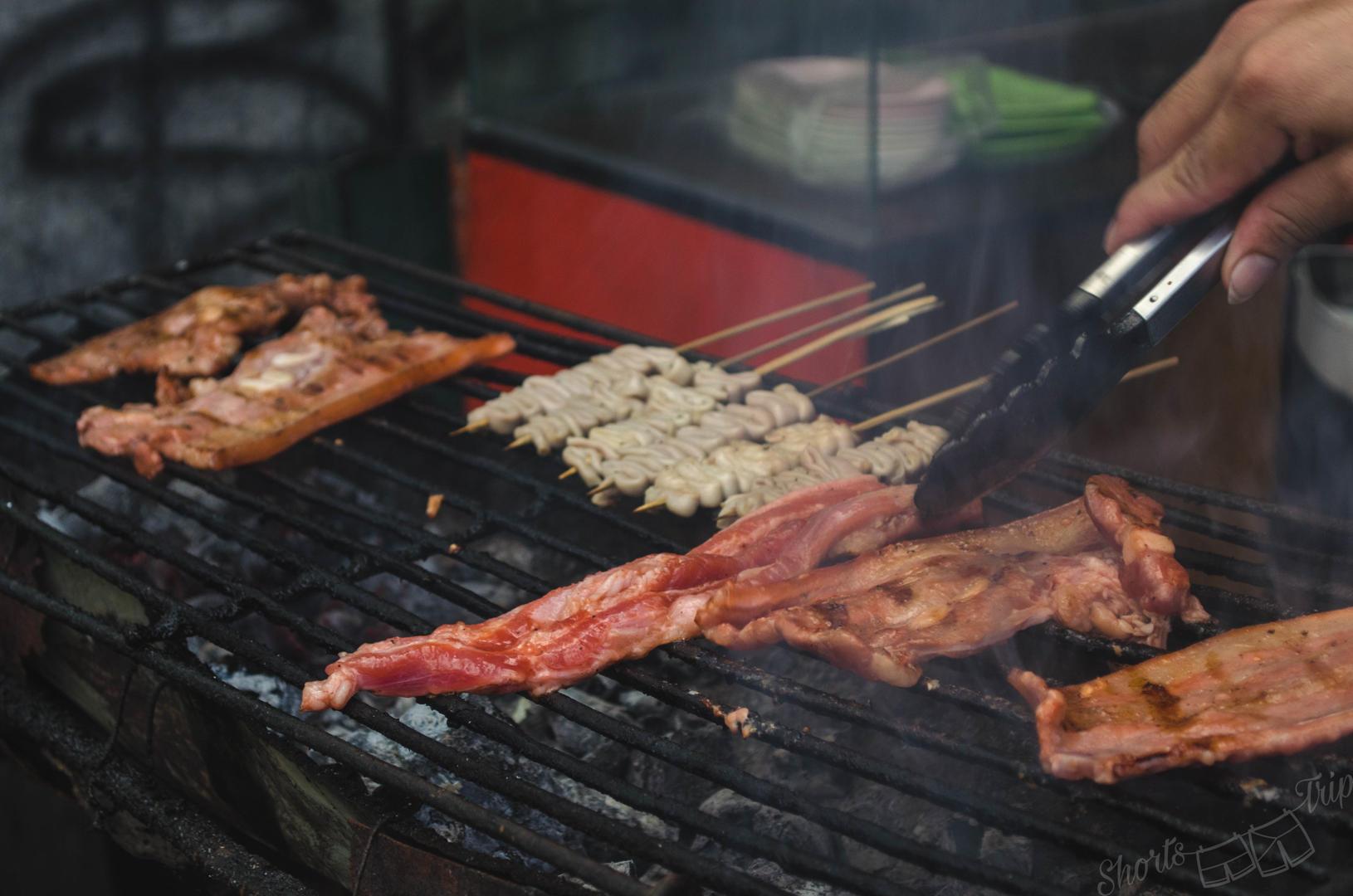 filipino barbeque, street food philippines, cebu street food