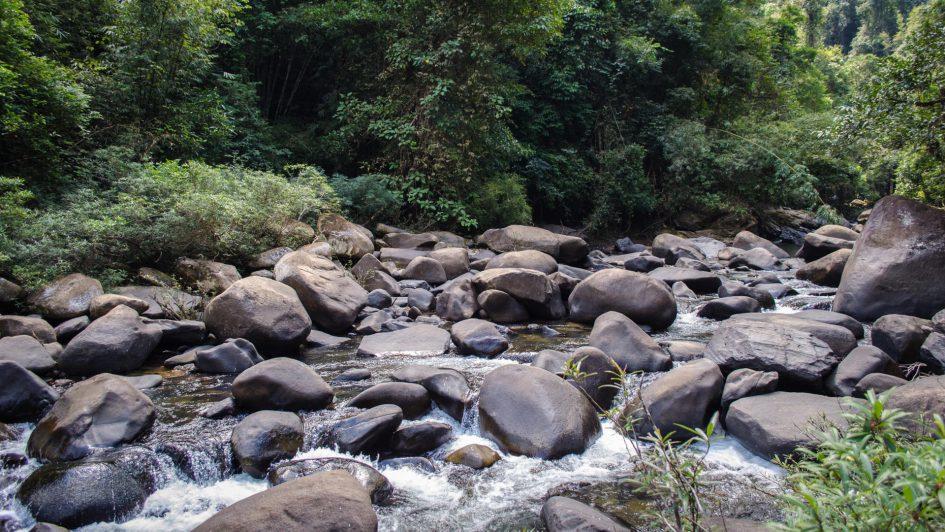 river, stones