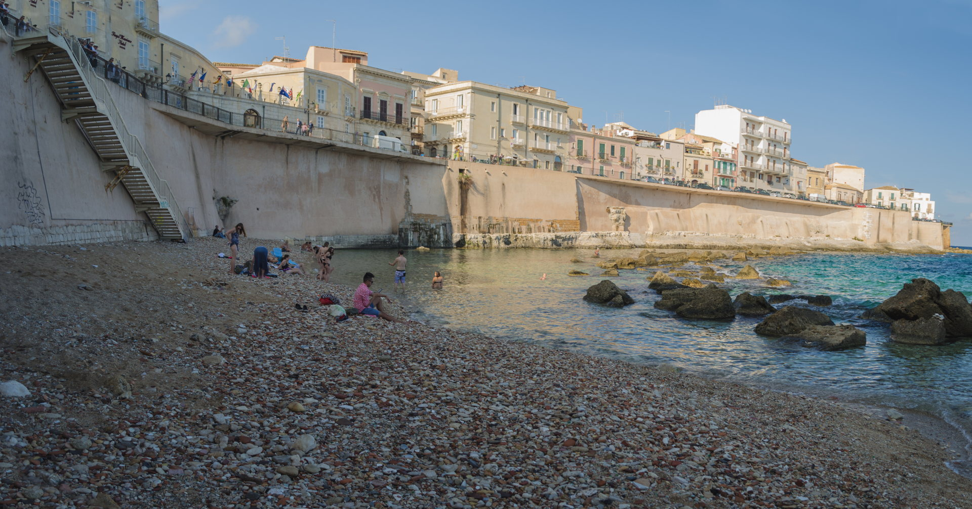syracuse beach, ortigia beach, is there beach in ortigia, sicily 4 day itinerary, what to do in sicily, sicily travel, sicily blog,