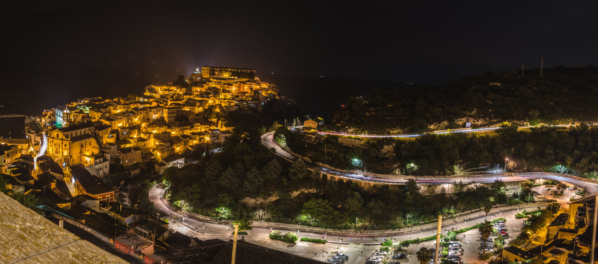ragusa, ragusa at night, ragusa panorama, ragusa ibla, ragusa drone, aerial view of ragusa, aerial ragusa ibla, best places to travel in sicily, sicily, italy, travel