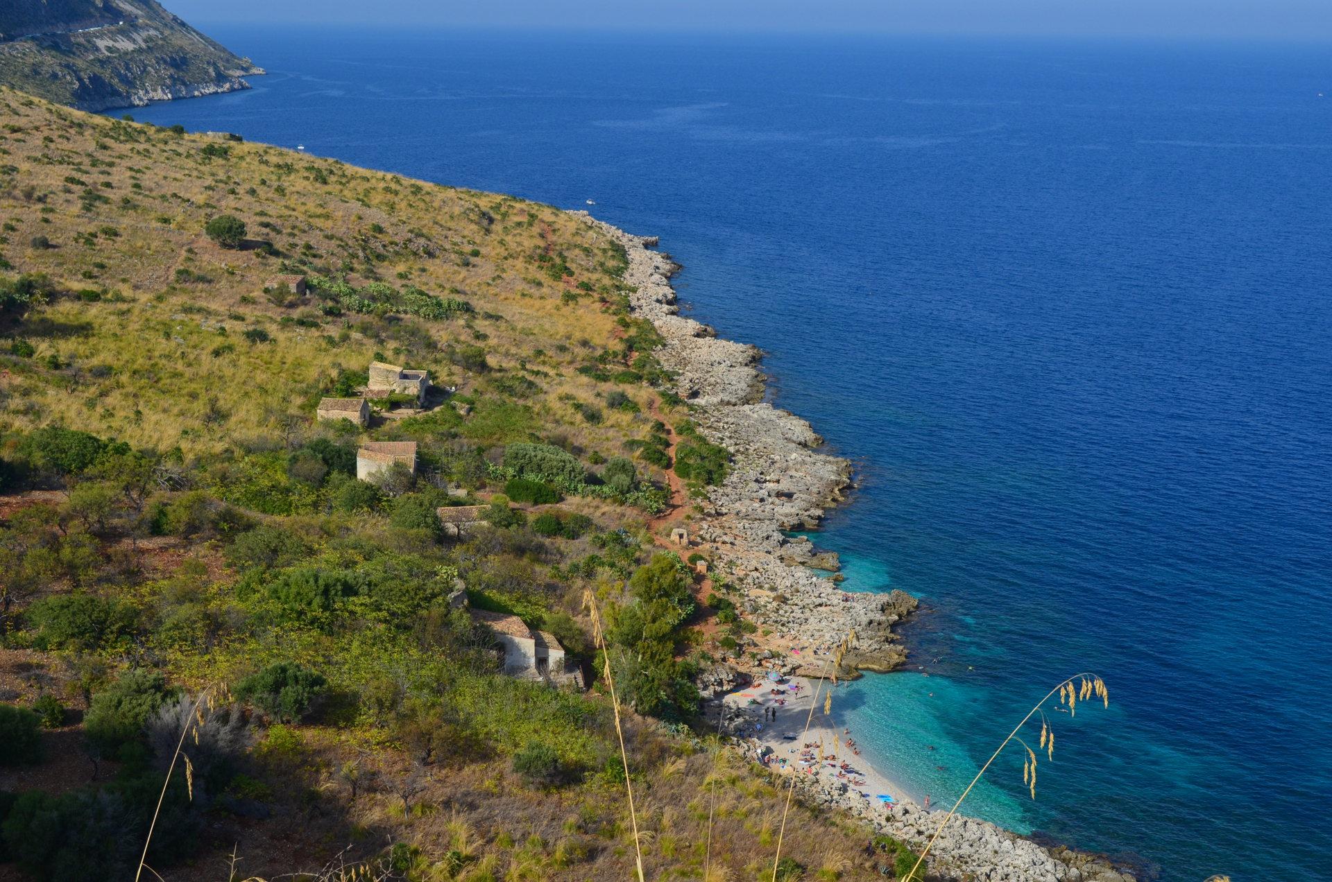 Cala dell'Uzzo, Cala dell'Uzzo beach, best beach of sicily, best beach of zingaro, zingaro nature reserve beaches, italy beaches, zingaro