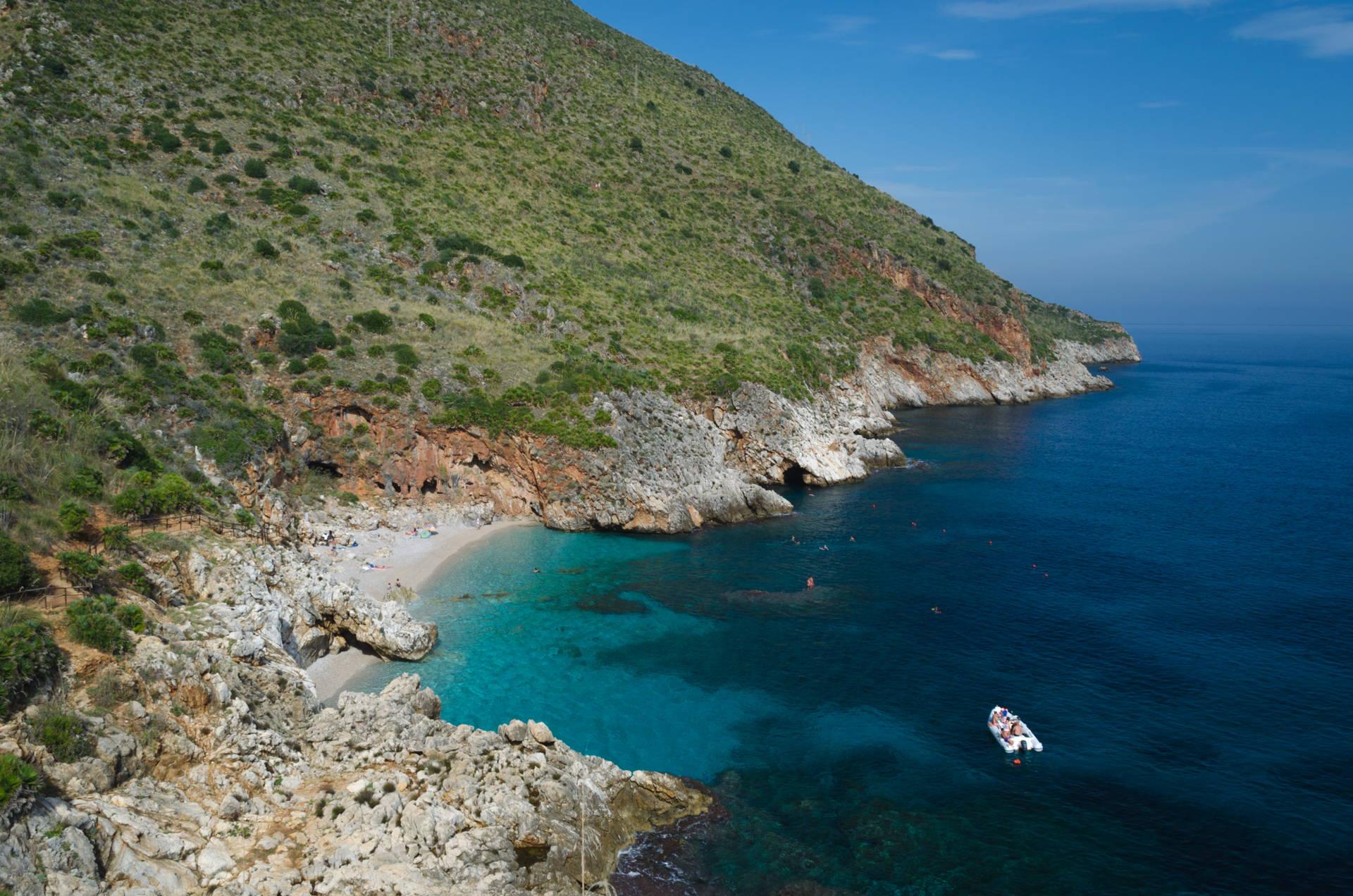 cala capreria, bay capreria, capreria, zingaro capreria, zingaro nature reserve, zingaro nature reserve beaches, best beach of zingaro nature reserve, zingaro best beach