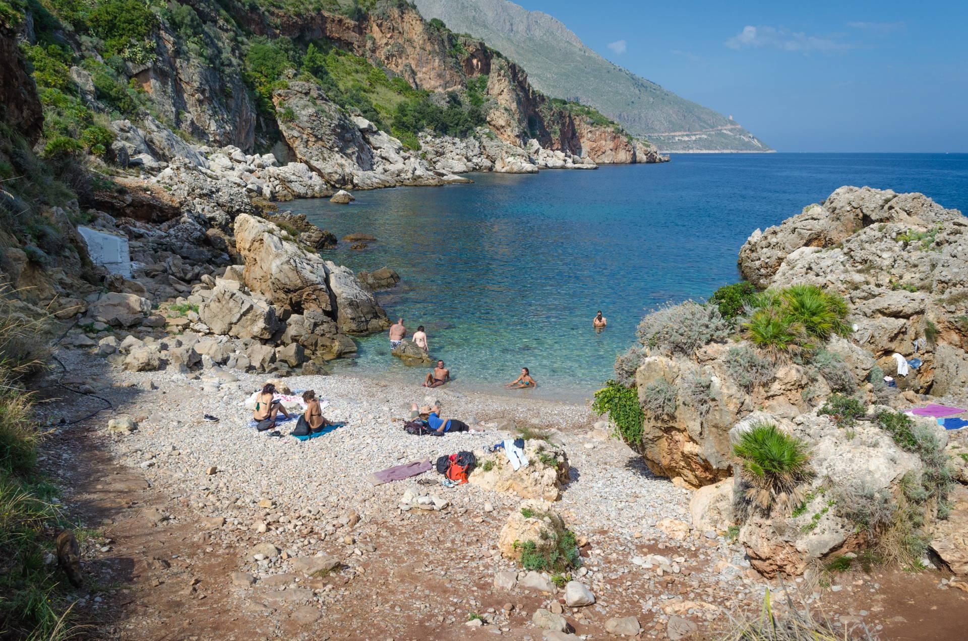 cala berretta, berretta beach. zingaro berretta, zingaro nature reserve berretta, best beach of zingaro, beach guide zingaro, sicily, best beaches of sicily