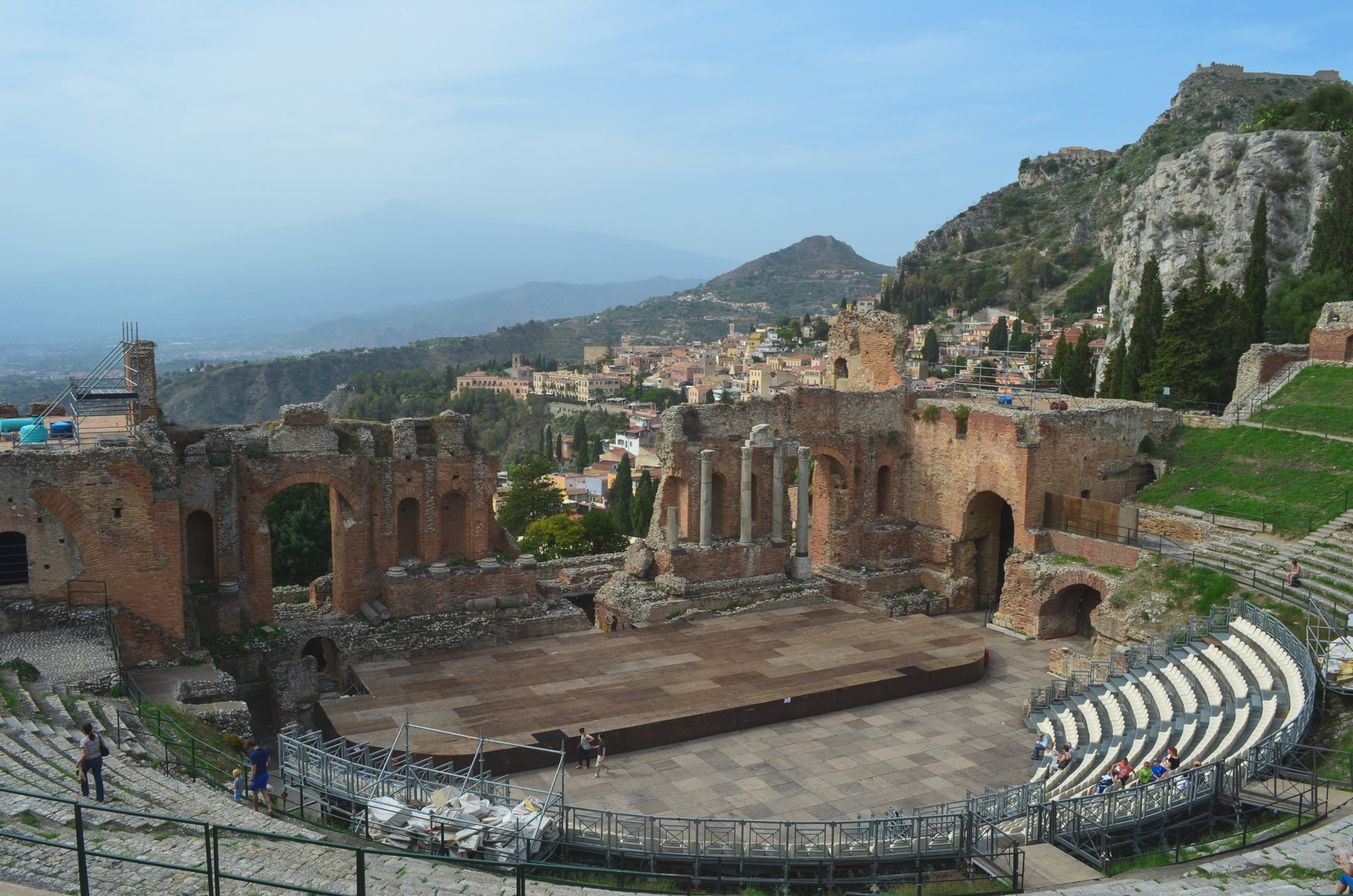 taormina, greek theatre, taormina theatre, ancient greece, ancient greek theatre, best places to visit in sicily